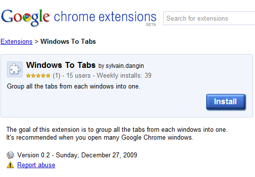 windows to tabs