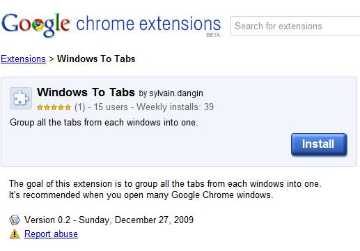 windows to tabs