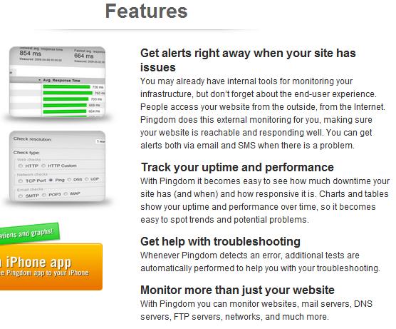 Pingdom: Monitors Website Downtime & Sends Alerts image thumb120