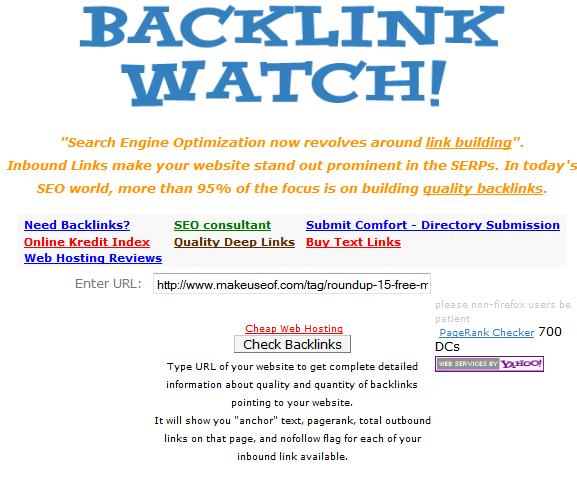 check backlinks to website