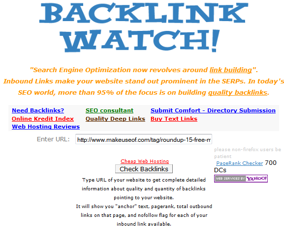 check backlinks to website