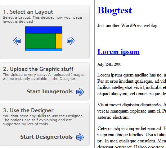 create custom wordpress template