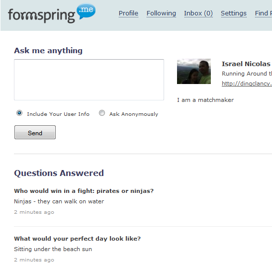 Warrior knows what the fuk is up on formspring (PICS ...