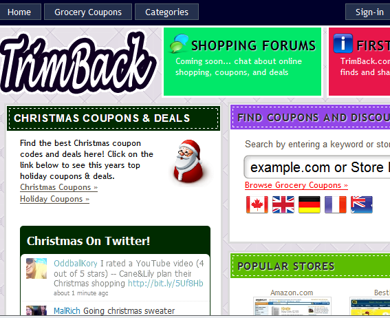 find coupons and discounts for your favorite stores