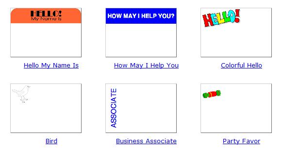 free printable name tags