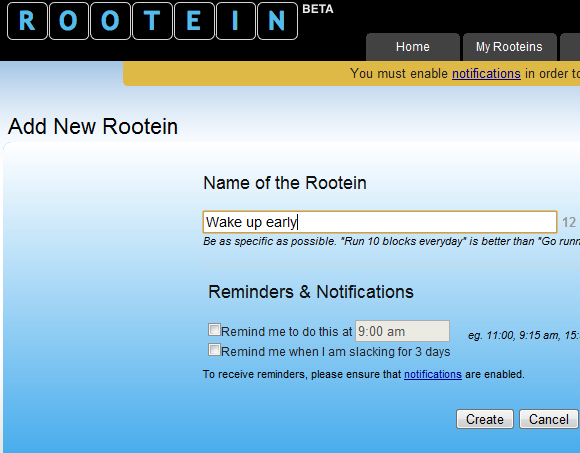 Rootein: Online Self Improvement Tracker rootein2