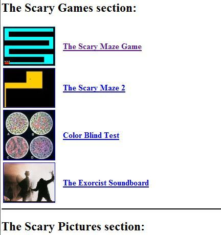 top 5 sites with scary stuff that makes you jump