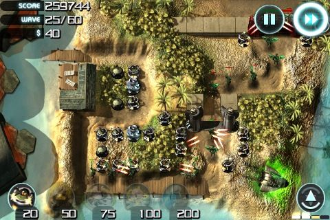 The Best iPhone Tower Defense Games 2009 + Giveaway sentinel3