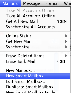 smart mailboxes apple mail