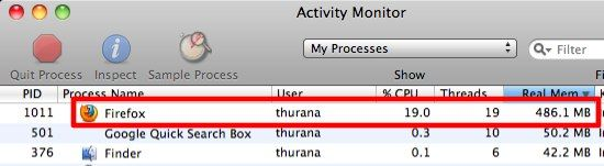 running processes mac