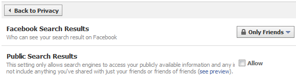 reset facebook privacy settings
