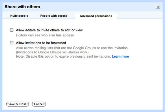 Google Docs Settings2