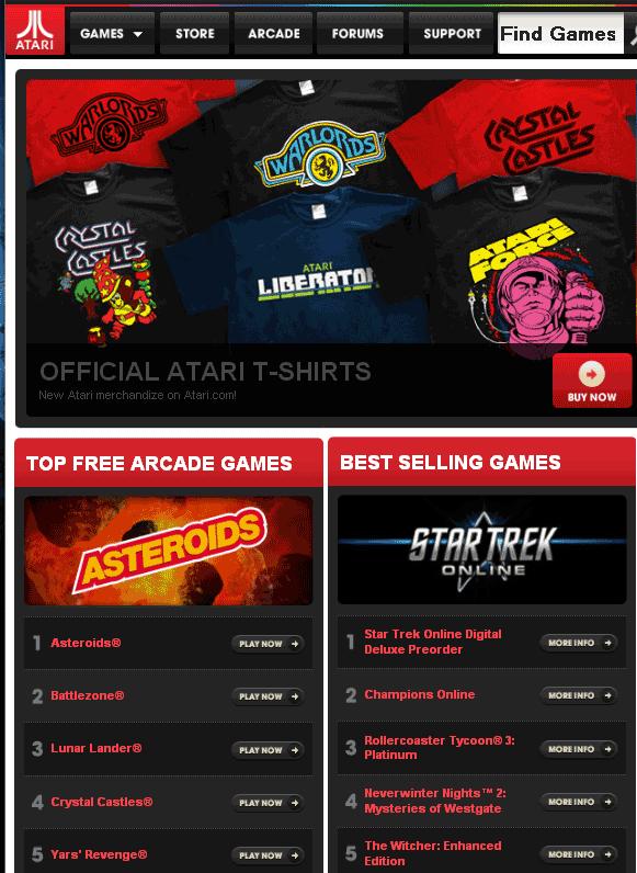 free atari games online