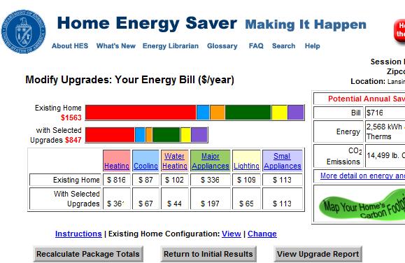 estimate energy savings