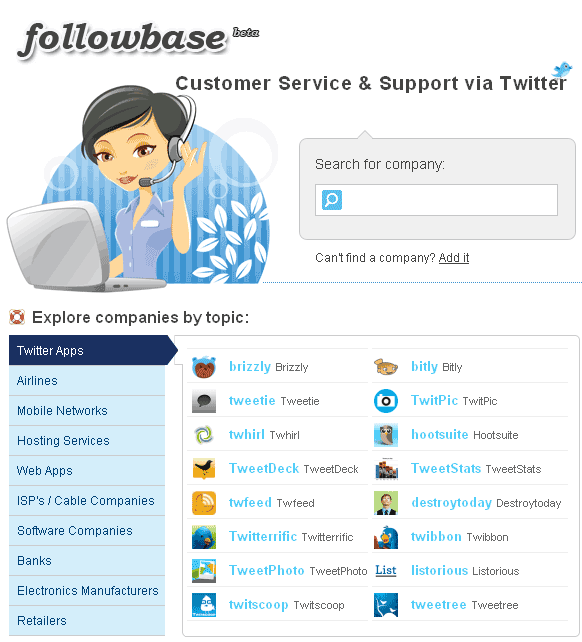 customer support on twitter