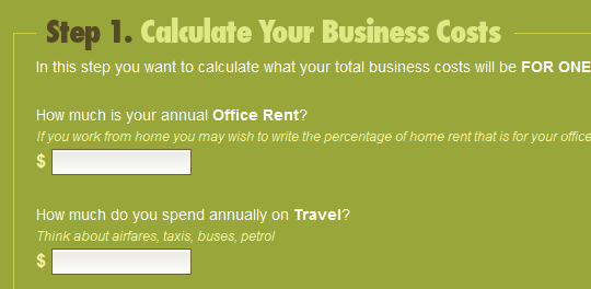 determine hourly rate