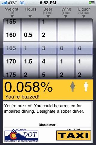 blood alcohol level calculator