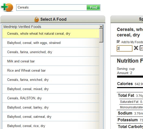daily calorie intake counter