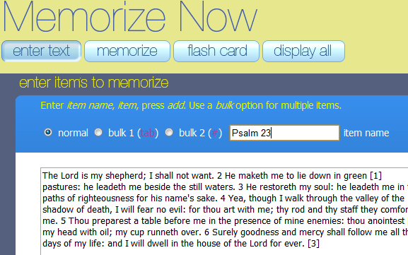 memorizing long passages