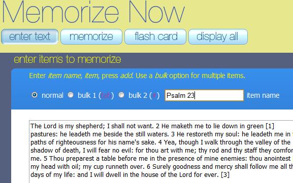 memorizing long passages