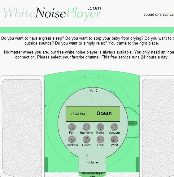 white noise to help you sleep