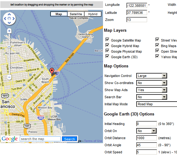 add maps to your website
