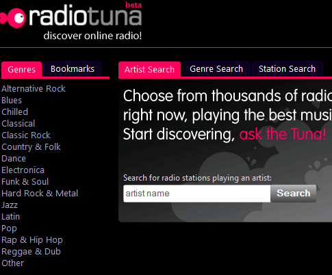 internet radio search engine