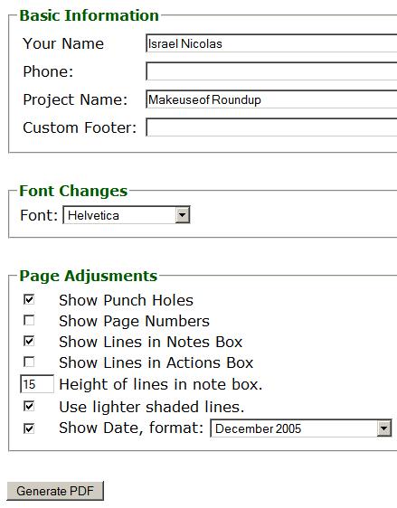 notepad generator pdf notepad creator online