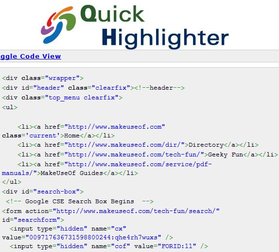 code syntax highlighter