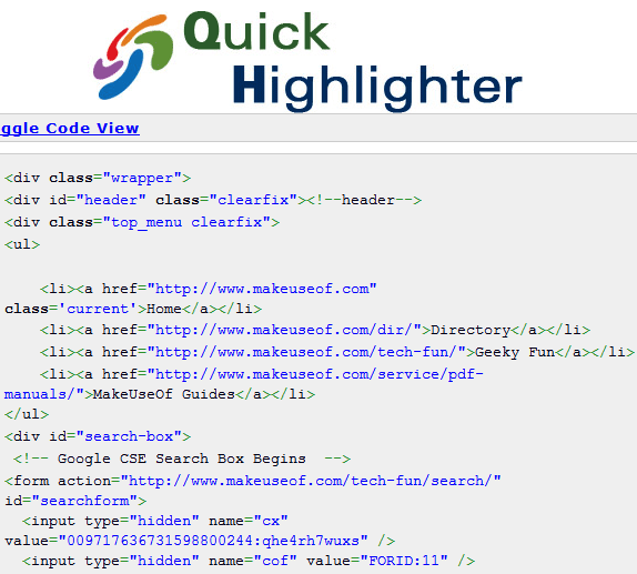 code syntax highlighter