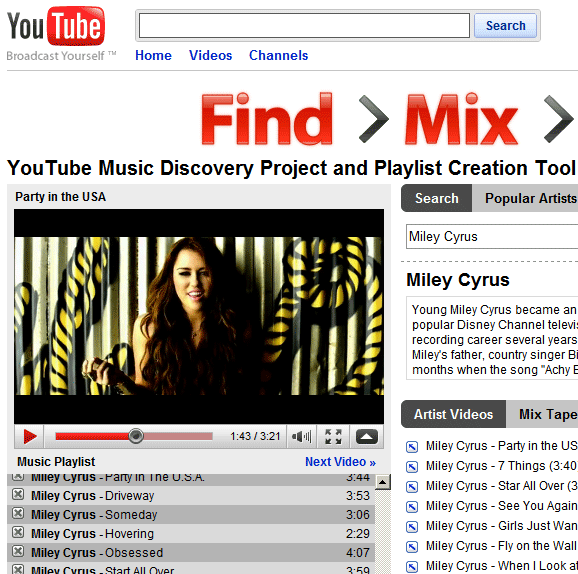 youtube music discovery project