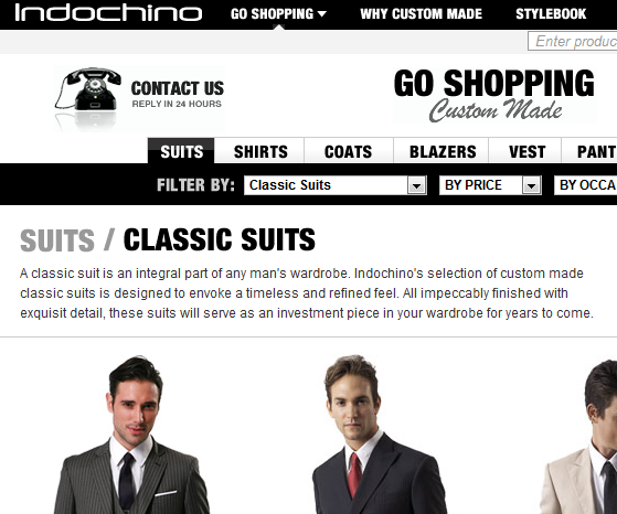 custom made men's suits