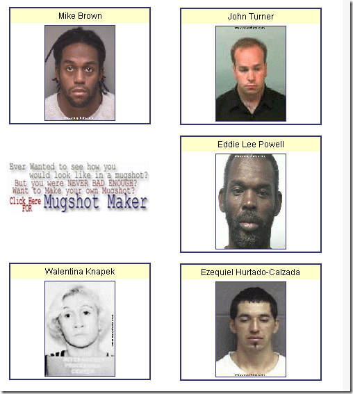 mugshot websites
