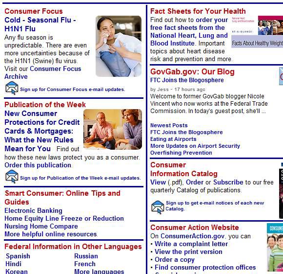 consumer information center