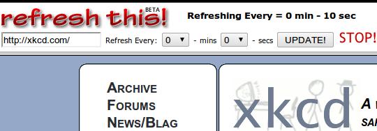 auto reload website