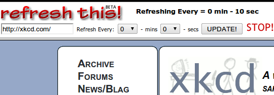 refreshthis   RefreshThis: Auto Reload Websites Periodically Without A Plugin