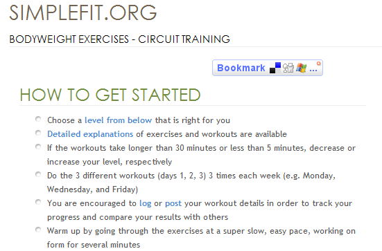 online exercise guide