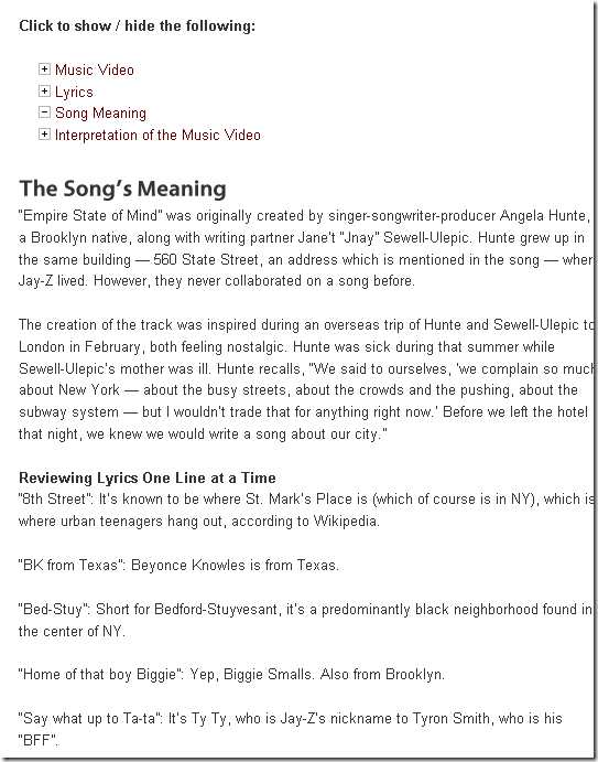 song lyric meanings