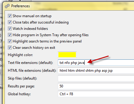 Quickly Search Documents For Words with DocFetcher textfileextentionsdf