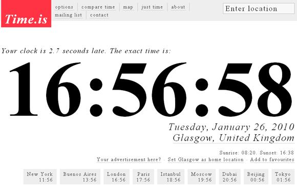 timeis   TimeIs: Checks Computer Clock Accuracy