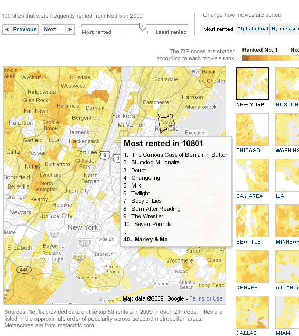 videorentalmap   NYT Video Rental Maps: Check out Top Video Rentals for Your City