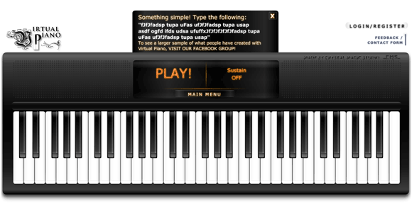 play piano with computer keyboard