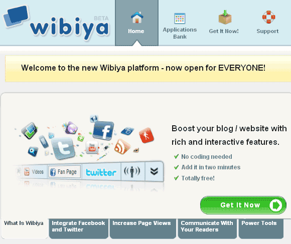 sharing toolbar