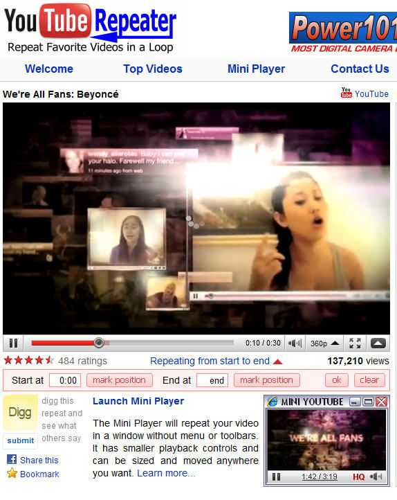 youtuberepeater 0   YouTube Repeater: Repeat YouTube Videos Automatically