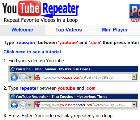 repeat youtube videos
