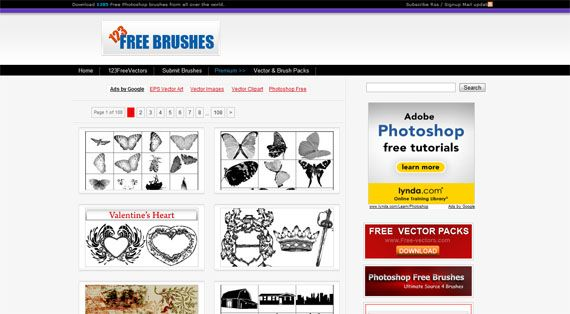 6 Best Sites To Download Free Photoshop Brushes 123freebrushes