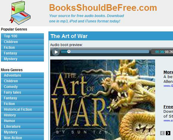 free downloadable audio books