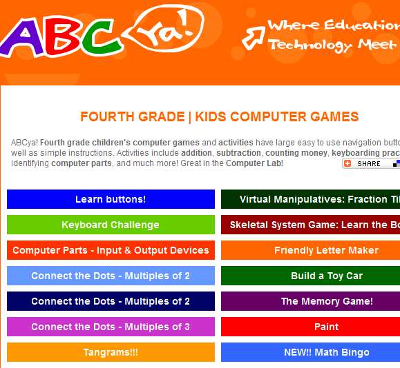 browser based games for kids