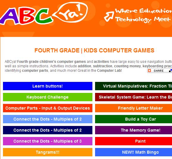 browser based games for kids