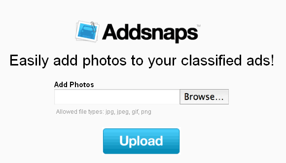 addsnaps   Addsnaps: Free Image Hosting for Craigslist & Other Classifieds